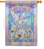 Rejoice - Easter Spring Vertical Impressions Decorative Flags HG103042 Made In USA
