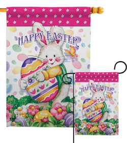Easter Treats - Easter Spring Vertical Impressions Decorative Flags HG103055 Made In USA