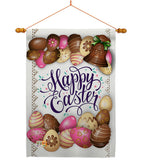 Sweet Chocolate Easter - Easter Spring Vertical Impressions Decorative Flags HG103061 Made In USA
