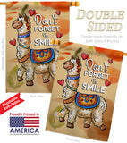 Don't Forget to Smile - Expression Inspirational Vertical Impressions Decorative Flags HG137092 Made In USA