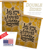 Life Gives Lemons - Expression Inspirational Vertical Impressions Decorative Flags HG137185 Made In USA