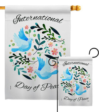 International Peace Day - Expression Inspirational Vertical Impressions Decorative Flags HG115204 Made In USA