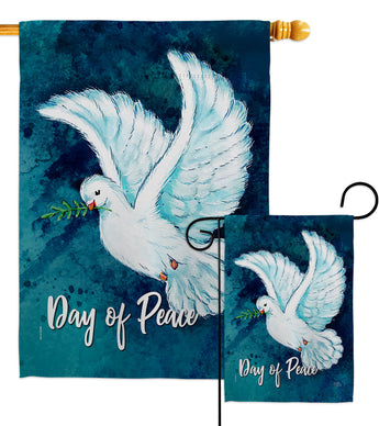 Together For Peace - Expression Inspirational Vertical Impressions Decorative Flags HG115206 Made In USA