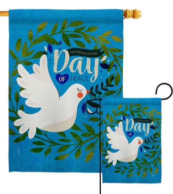 Peace Day - Expression Inspirational Vertical Impressions Decorative Flags HG115220 Made In USA