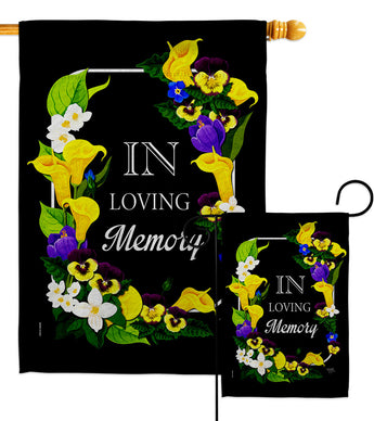 Loving Memory - Expression Inspirational Vertical Impressions Decorative Flags HG115230 Made In USA