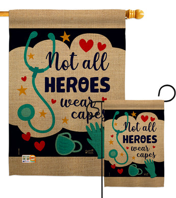 Our Heroes - Expression Inspirational Vertical Impressions Decorative Flags HG137206 Made In USA