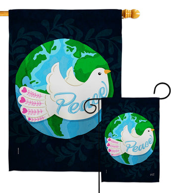 Peace - Expression Inspirational Vertical Impressions Decorative Flags HG137441 Made In USA