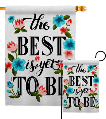 Best is Yet - Expression Inspirational Vertical Impressions Decorative Flags HG137459 Made In USA