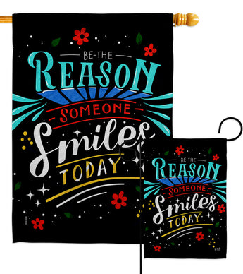 Someone Smiles - Expression Inspirational Vertical Impressions Decorative Flags HG137465 Made In USA
