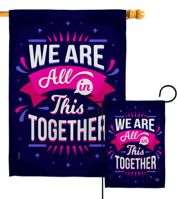 All In This - Expression Inspirational Vertical Impressions Decorative Flags HG192248 Made In USA