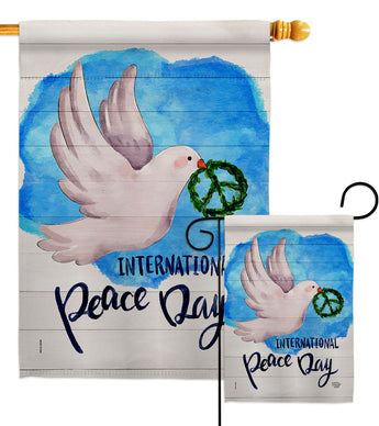 Peace Together - Expression Inspirational Vertical Impressions Decorative Flags HG192422 Made In USA