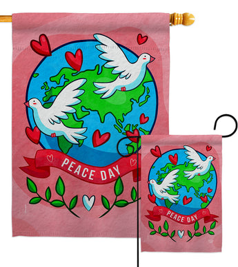 Peace On Earth - Expression Inspirational Vertical Impressions Decorative Flags HG192455 Made In USA