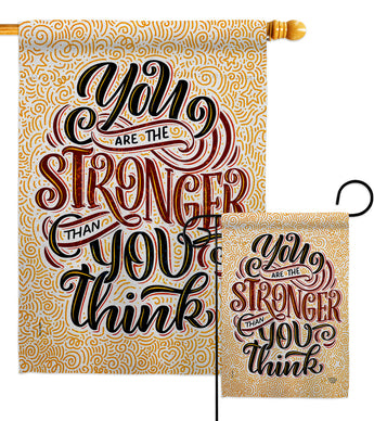 Stronger Then You Think - Expression Inspirational Vertical Impressions Decorative Flags HG192524 Made In USA