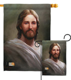 Our Savior - Faith & Religious Inspirational Vertical Impressions Decorative Flags HG103047 Made In USA