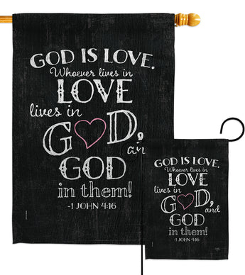 God is Love - Impressions Decorative Garden Flag G153067-BO