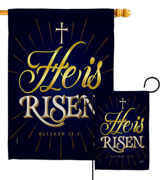 He is Risen - Impressions Decorative Garden Flag G135256-BO