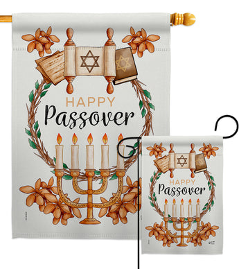 Passover - Faith & Religious Inspirational Vertical Impressions Decorative Flags HG137259 Made In USA