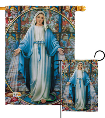 Our Lady of Grace - Faith & Religious Inspirational Vertical Impressions Decorative Flags HG192083 Made In USA