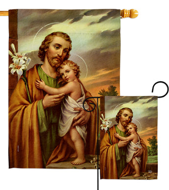 Joseph & Jesus - Faith & Religious Inspirational Vertical Impressions Decorative Flags HG192596 Made In USA