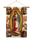 Our Lady of Guadalupe - Faith & Religious Inspirational Vertical Impressions Decorative Flags HG103057 Made In USA
