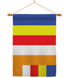 Buddhist - Faith & Religious Inspirational Vertical Impressions Decorative Flags HG140818 Made In USA