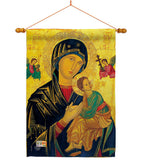 Our Lady of Perpetual Help - Faith & Religious Inspirational Vertical Impressions Decorative Flags HG192081 Made In USA