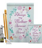 My Mother, My Friend - Family Special Occasion Vertical Impressions Decorative Flags HG115115 Made In USA