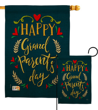 Grandparents Day - Family Special Occasion Vertical Impressions Decorative Flags HG115160 Made In USA