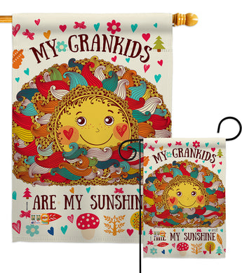 Grandkids Are My Sunshine - Family Special Occasion Vertical Impressions Decorative Flags HG137148 Made In USA