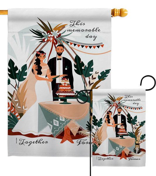 Together Forever - Family Special Occasion Vertical Impressions Decorative Flags HG137455 Made In USA