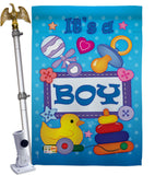 Baby Boy - Family Special Occasion Vertical Impressions Decorative Flags HG115069 Imported