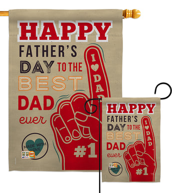Best Dad Ever - Father's Day Summer Vertical Impressions Decorative Flags HG115134 Made In USA