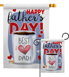 Happy Best Dad Day - Father's Day Summer Vertical Impressions Decorative Flags HG115135 Made In USA