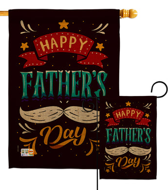 Hooray Father's Day - Father's Day Summer Vertical Impressions Decorative Flags HG115151 Made In USA