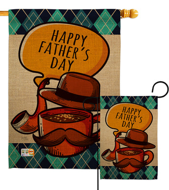 Classic Father Day - Father's Day Summer Vertical Impressions Decorative Flags HG115154 Made In USA