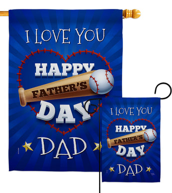 I Love You Dad - Father's Day Summer Vertical Impressions Decorative Flags HG115171 Made In USA