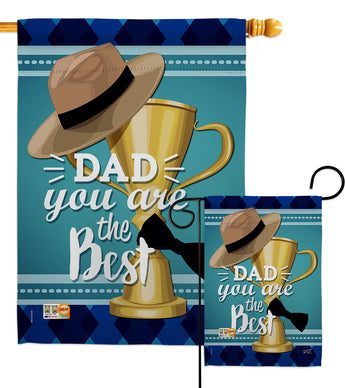 Dad You are the Best - Father's Day Summer Vertical Impressions Decorative Flags HG137048 Made In USA