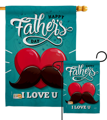 Dad Mustache - Father's Day Summer Vertical Impressions Decorative Flags HG137153 Made In USA
