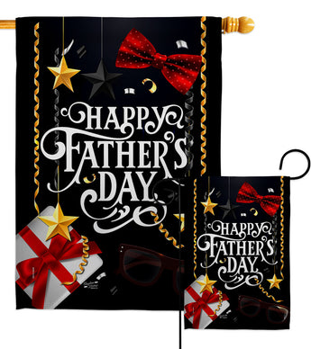 Happy Father's Day - Father's Day Summer Vertical Impressions Decorative Flags HG137369 Made In USA