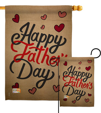 Happy Father's Day - Father's Day Summer Vertical Impressions Decorative Flags HG191087 Made In USA