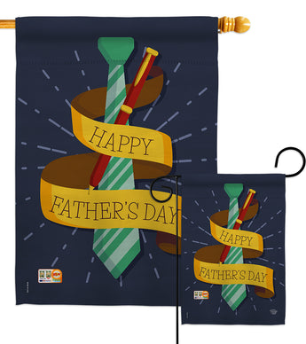 Happy Smartest Dad - Father's Day Summer Vertical Impressions Decorative Flags HG192064 Made In USA