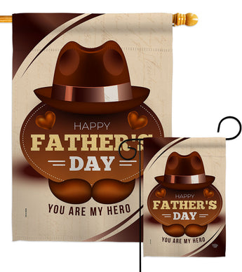 You Are My Hero - Father's Day Summer Vertical Impressions Decorative Flags HG192365 Made In USA