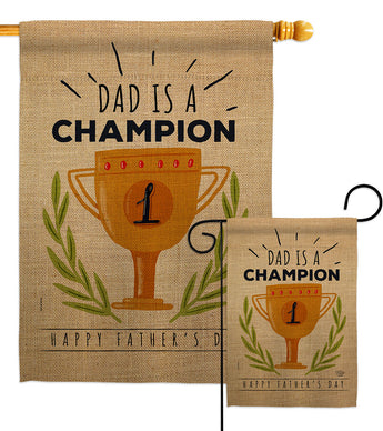 Dad Is Champion - Father's Day Summer Vertical Impressions Decorative Flags HG192389 Made In USA