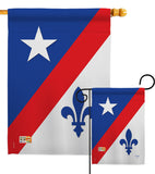 Franco American - Fleur De Lys Interests Vertical Impressions Decorative Flags HG118007 Made In USA