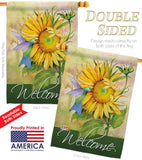 Sunflower with Hummingbird - Floral Spring Vertical Impressions Decorative Flags HG104095 Made In USA