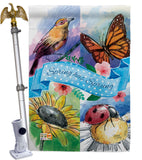 Spring Has Sprung - Floral Spring Vertical Impressions Decorative Flags HG104085 Made In USA