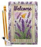 Lavender - Floral Spring Vertical Impressions Decorative Flags HG104090 Made In USA