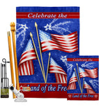 Celebrate Freedom - Fourth of July Americana Vertical Impressions Decorative Flags HG111057 Made In USA