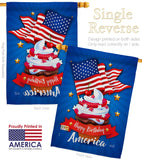 Happy Birthday America - Fourth of July Americana Vertical Impressions Decorative Flags HG137073 Made In USA