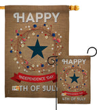 Independence Day - Fourth of July Americana Vertical Impressions Decorative Flags HG111068 Made In USA